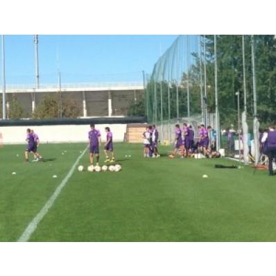 Allenamento Fiorentina gara